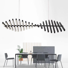 Modern Designer Dinning Room  LED Chandelier lighting Nordic Office Chandelier Lamp Creative Bar Hanging Light Indoor Suspension