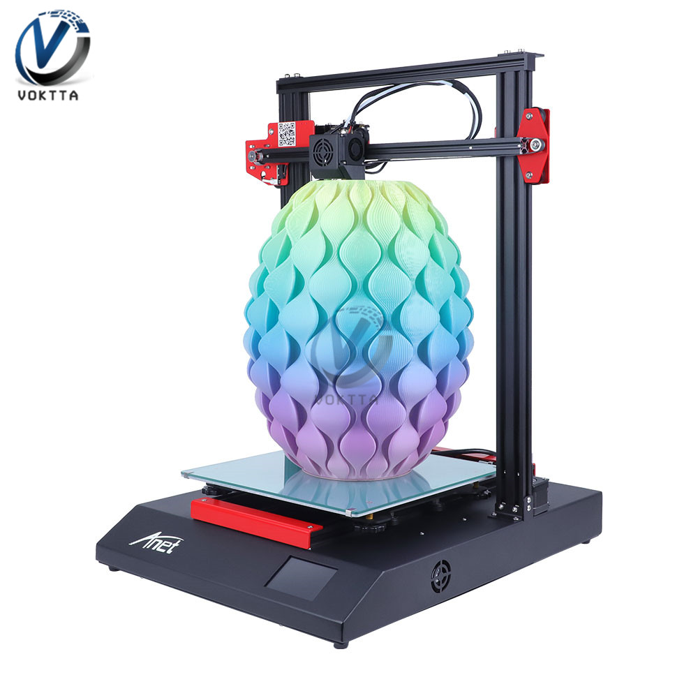 Anet ET4 3D Printer All Metal Intergrated DIY Desktop 3D Printing Size 220*220*250mm With Automatic Leveling Out Of Filament 3d