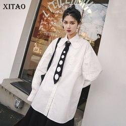 XITAO Vintage Fashion Blouse Single Breast 2020 Spring Elegant Full Sleeve Plus Size Loose Minority Casual Shirt Top XJ3875
