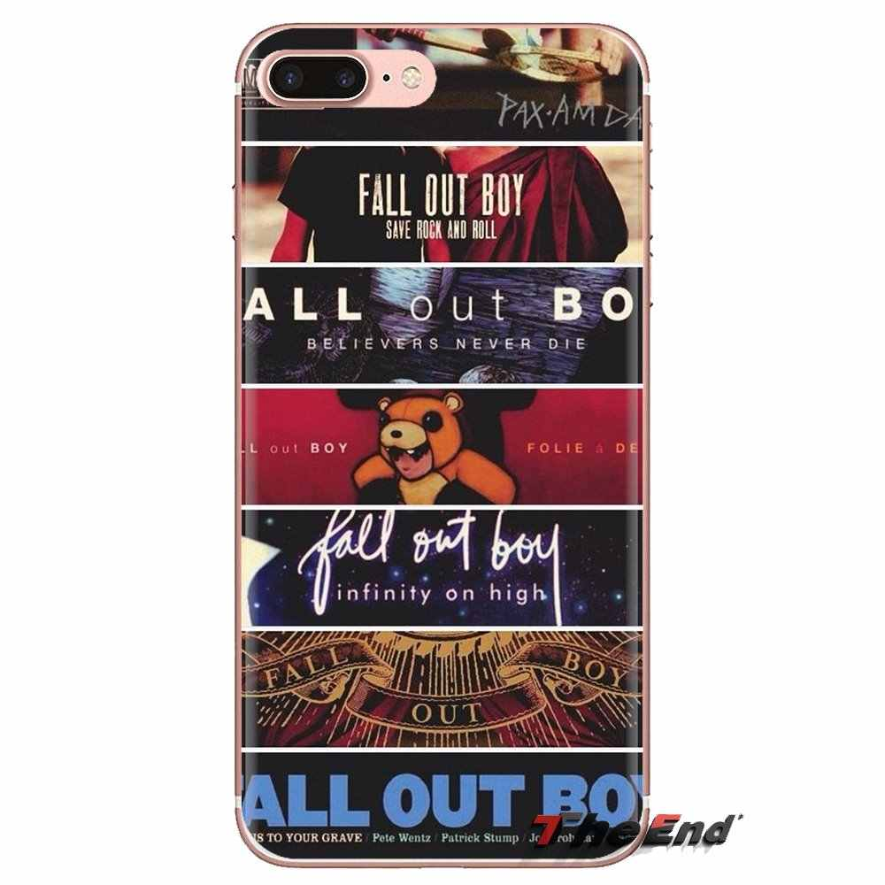 Housse en Silicone Pour HTC One U11 U12 X9 M7 M8 A9 M9 M10 E9 Plus Désir 630 530 626 628 816 820 830 mode Fall Out Boy bandes logo