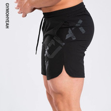 GYMOHYEAH Mens Shorts Summer Black Casual Fitness Gyms Bodybuilding Jogger Training Clothing Quick drying compression Shorts MenCasual Shorts