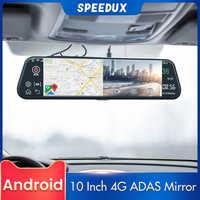 10 Inch 4G GPS Navigation Car DVR ADAS Mirror Dash Camera Android FHD Recorder Rear View Mirror Night Vision For Auto Video