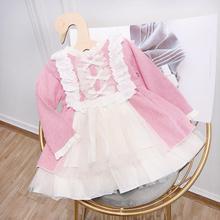 Vintage vestido de Navidad vestido para bebé niño niñas azo de Lolita pompón cumpleaños boda bola vestido de algodón con encaje ropa