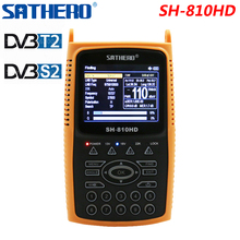 Sathero SH 810HD DVB S2 DVB S الرقمية الفضائية مكتشف متر 3.5 بوصة HD LCD DVB T2 إشارة DVB T Satfinder دعم CCTV 810HD