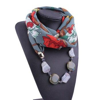 2020 NEW Arrival Jewelry Statement Necklace Pendant Scarf Women Bohemia styel Neckerchief Foulard Femme Accessories