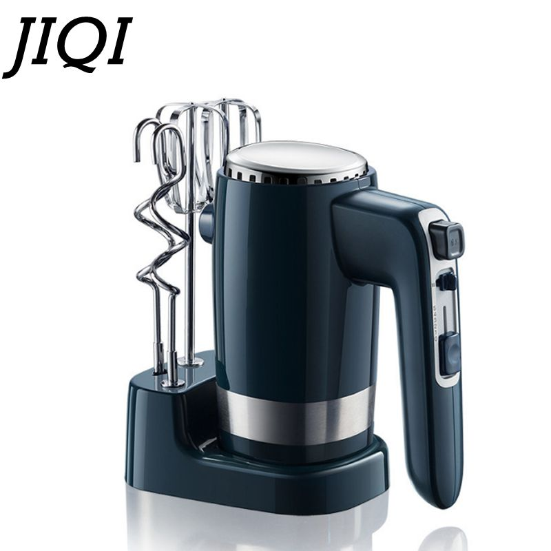 JIQI 300W 10 Speed Handheld Food Mixer 220V Cream Beater Electric Egg Whisk Cake Bread Dough Mixer Blender Kitchen Appliance