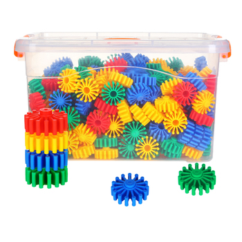 270pcs/180pcs Round Gear Building Blocks Funny Deluxe Building Set Construction Toy Educational Toy Gift For Children Kid Adult