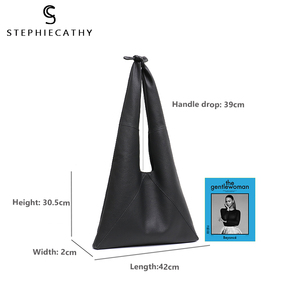 Image 2 - SC Knotted Handle Cow Leather Hobo Bag Femal High Quality Luxury Design Brand Genuine Italian Leather Big Women Shoulder Bags