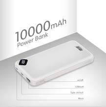 Leise 電源銀行 10000 mah ポータブル充電 powerbank 10000 2600mah の usb/タイプ c 外部バッテリー充電器 mi 9 8 iphone