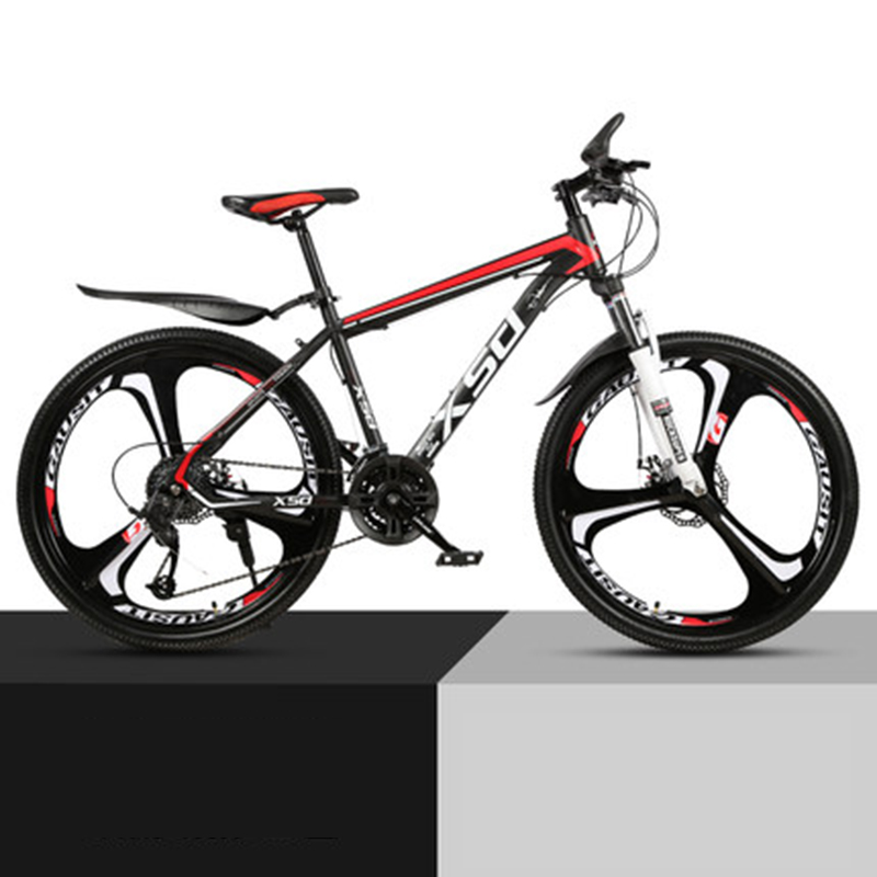 26-Inch 21/24/27/30Speed Mountain Bicycle Shock Absorption Speed Change Mechanical Disc Brake Student Adult A Body Wheel Bike