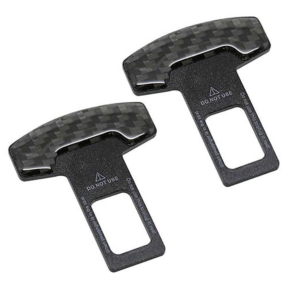 1* Car Accessories Safety Seat Belt Buckle Alarm Stopper Eliminator Black Clip