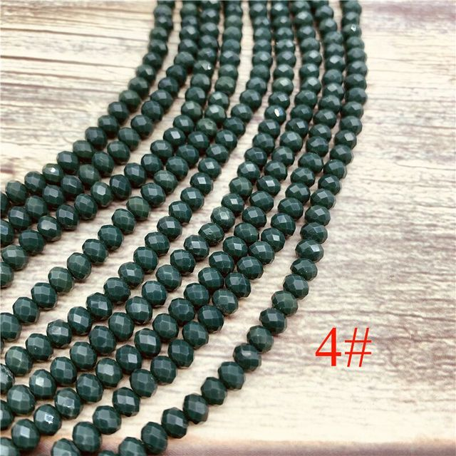 148pcs 2x3mm/3x4mm/4x6mm Crystal Rondel Beads Faceted Glass Beads For Jewelry Making DIY Female Bracelet Necklace Jewelry