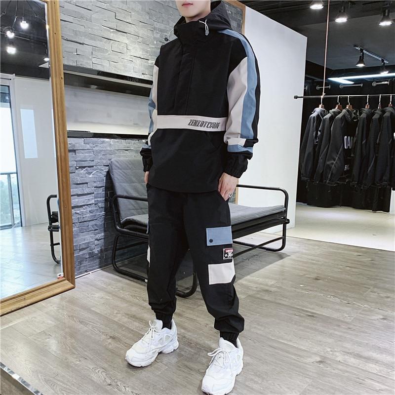 New Zipper Jacket Sports 2 Piece Sets Men's Sportswear Long Sleeved Basketball Football Jogging Football Men's Running Clothes