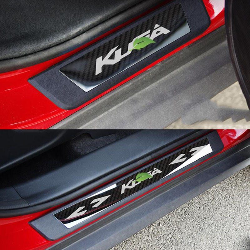 Car Styling For Ford KUGA 2018 Accessories Door Sill Protector Scuff Plates Stainless Steel Door Pedal Sticker Car Accessories