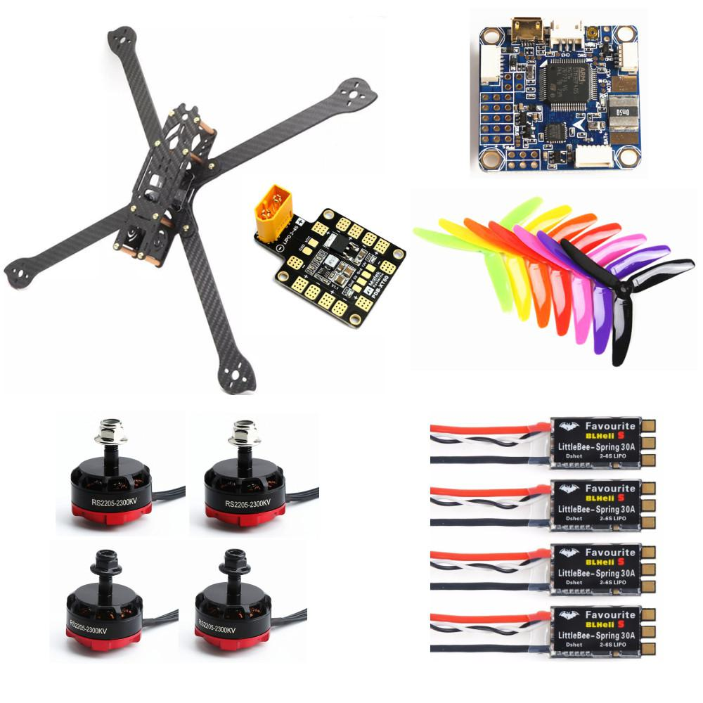 XL5 232mm FVT LITTLEBEE BLlheli-s 30A RS2205 2300KV F4 PRO V3 Flight Controller Carbon Fiber DIY FPV Raicng Frame kit RC Drone