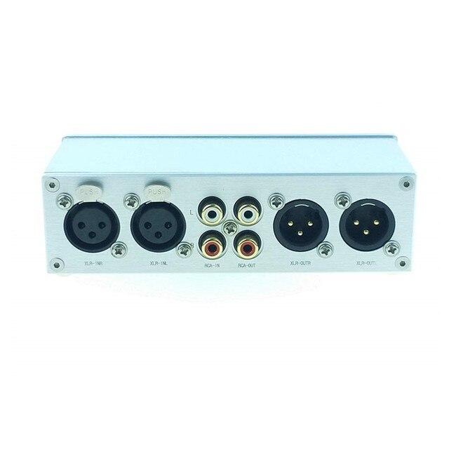 SOLUPEAK Mini Fully Balanced/Single Ended Passive Preamp Hi Fi Pre Amplifier XLR/RCA Volume Controller for Active Speaker or AMP