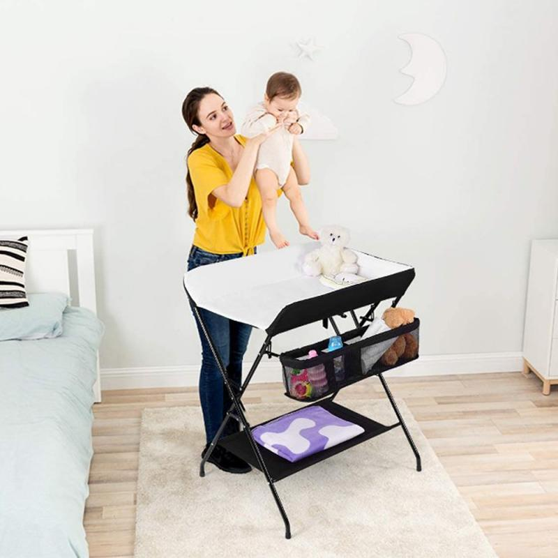 Foldable Infant Diaper-Changing Table Baby Care Desk Newborn Baby Change Diaper-Changing Table Massage Baby Care Table HWC