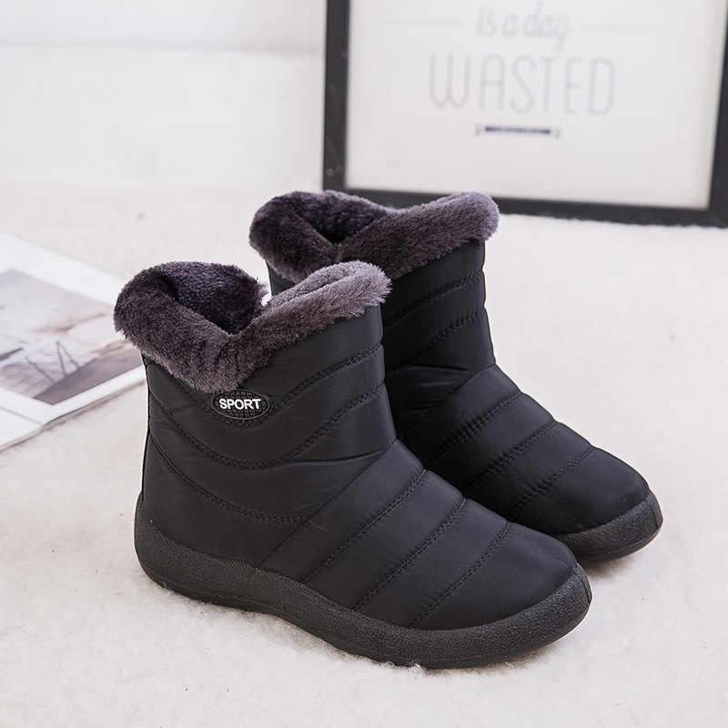 Kadın Botları 2019 Kış Ayakkabı Kadın Kar Botları Kürk Botas Mujer Su Geçirmez Artı Boyutu Kadın Ayakkabı Kış Çizmeler Kadın patik