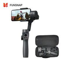Funsnap capture2s 3-axis handheld cardan estabilizador foco puxar & zoom para câmera de smartphone gravação de vídeo bluetooth vlog ao vivo