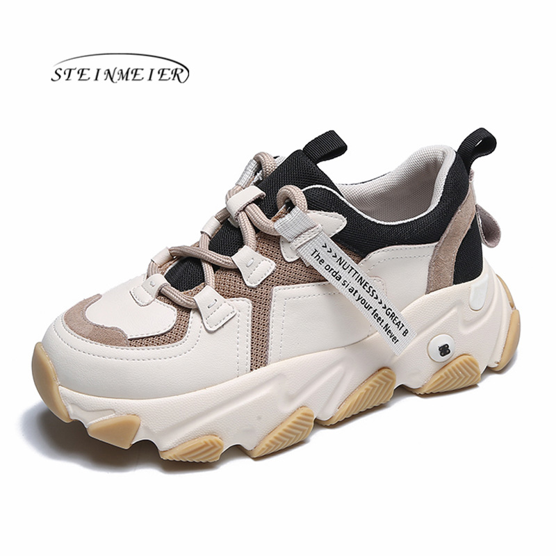 Steinmeier Platform Sneakers Spring  Casual Shoes Vulcanized Sneakers For Women Female Lace Up  Autumn Ladies Shoes 2020