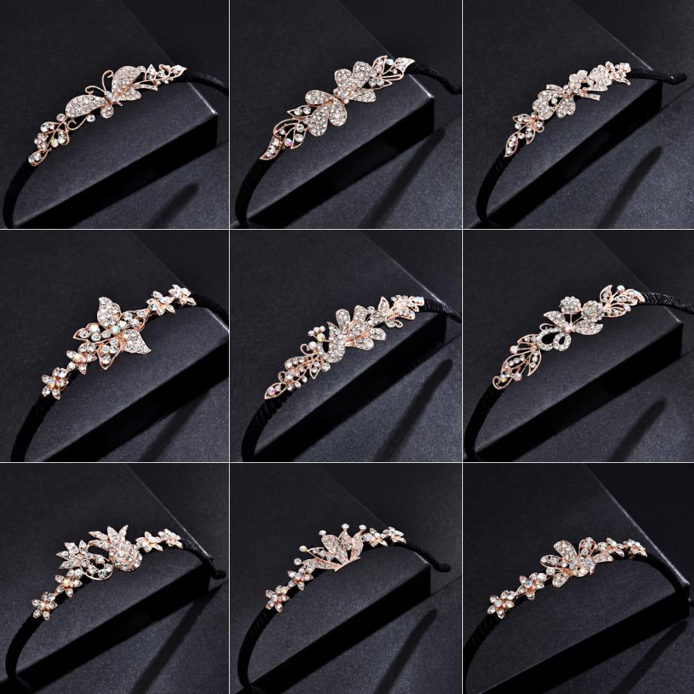 Girls Shiny Luxury Rhinestone Hair Band High Quality Zircon Hair Hoop Accessories For Women Crystal Headbands Ornaments