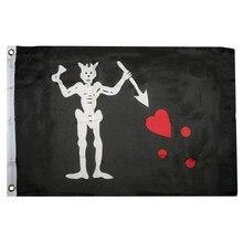 Blackbeard edward ensinar pirat bandeira 3x5ft banner 100d 150x90cm poliéster latão grommets bandeira personalizada