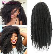 Marley коса Омбре плетение волос для наращивания мягкий афро кудрявый натуральный для косичек 18 дюймов Синтетические крючком косички волос