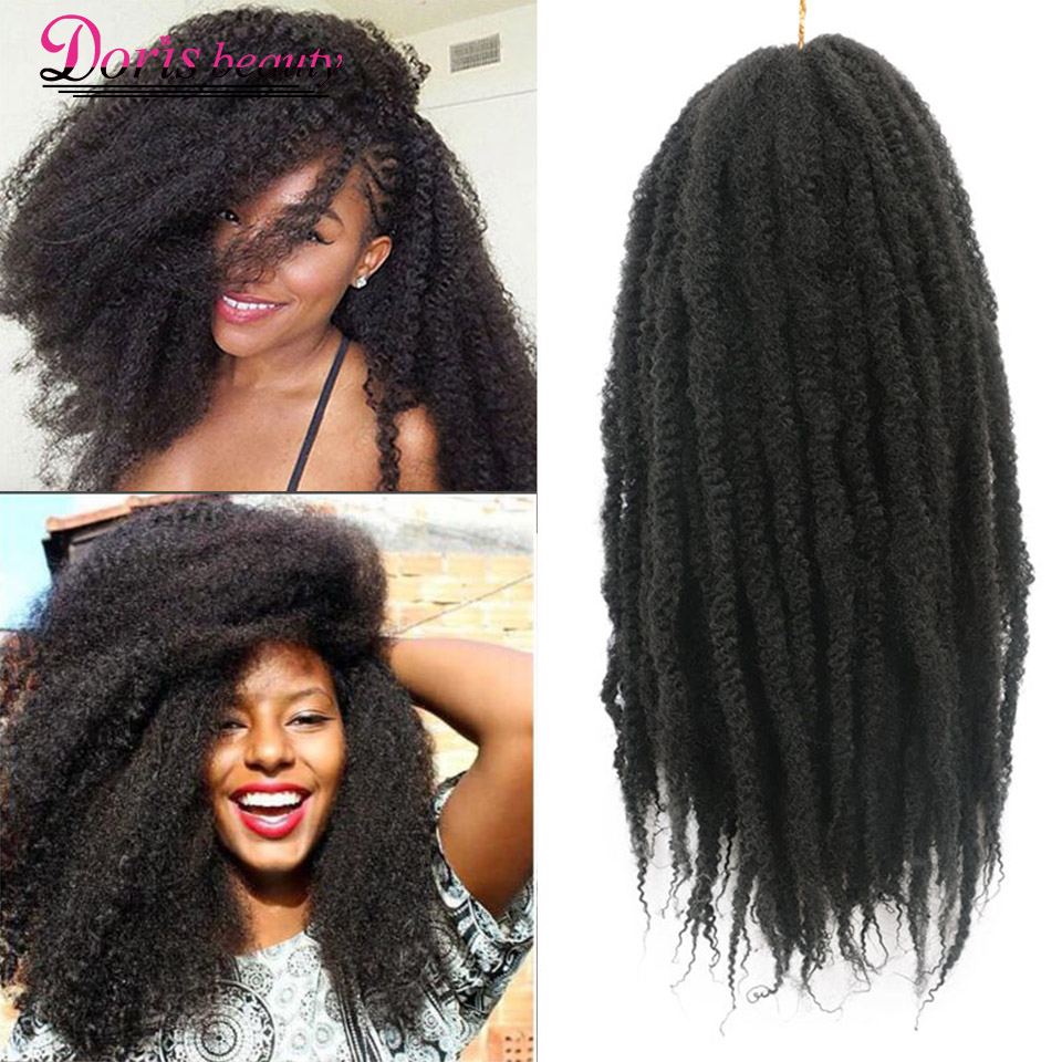 Marley Braid Ombre Braiding Hair Extensions Soft Afro Kinky Natural For Braids 18 Inch Synthetic Crochet Braids Hair