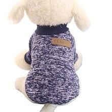 Рубашка для собак, Классический свитер для собак, щенков, флисовый свитер, одежда, теплый зимний свитер, футболка, жилет для собак, футболка, Femme Camiseta Perro