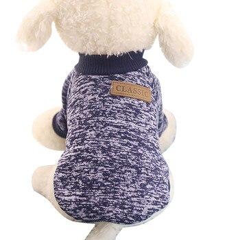 Dog Shirt Pet Dog Puppy Classic Sweater Fleece Sweater Clothes Warm Sweater Winter Tshirt Dog Vest T Shirt Femme Camiseta Perro
