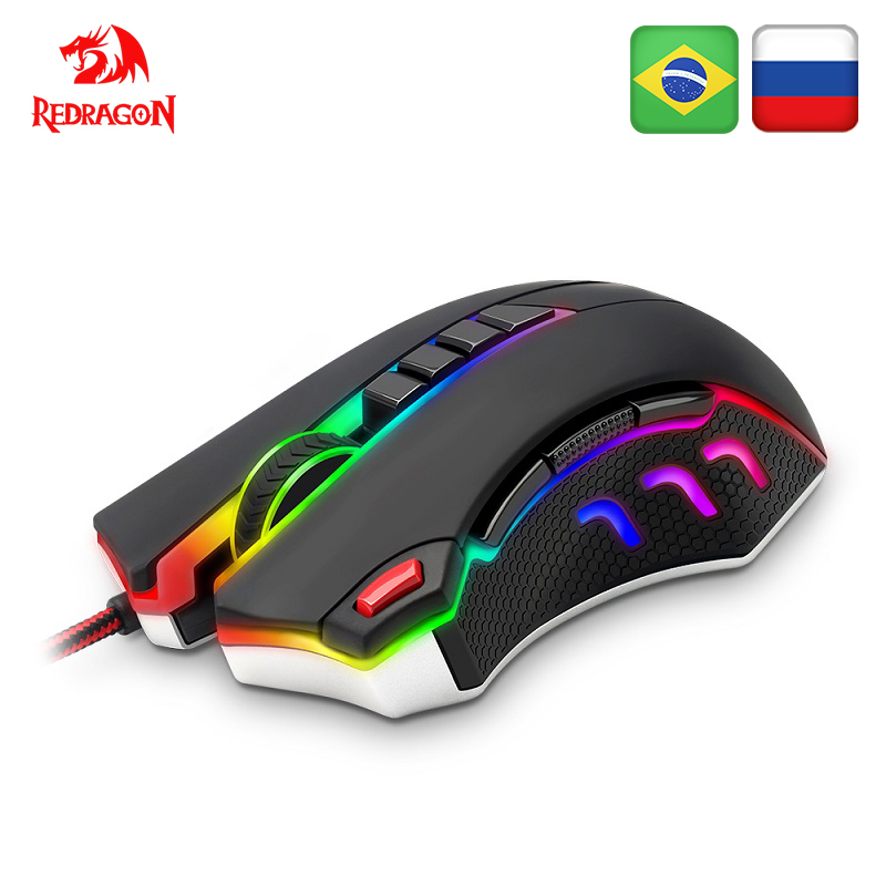 Redragon TITANOBOA2 CHROMA M802 USB Wired Gaming Computer Mouse 24000DPI 10 Buttons 5 Color Backlit RGB Programmable Ergonomic