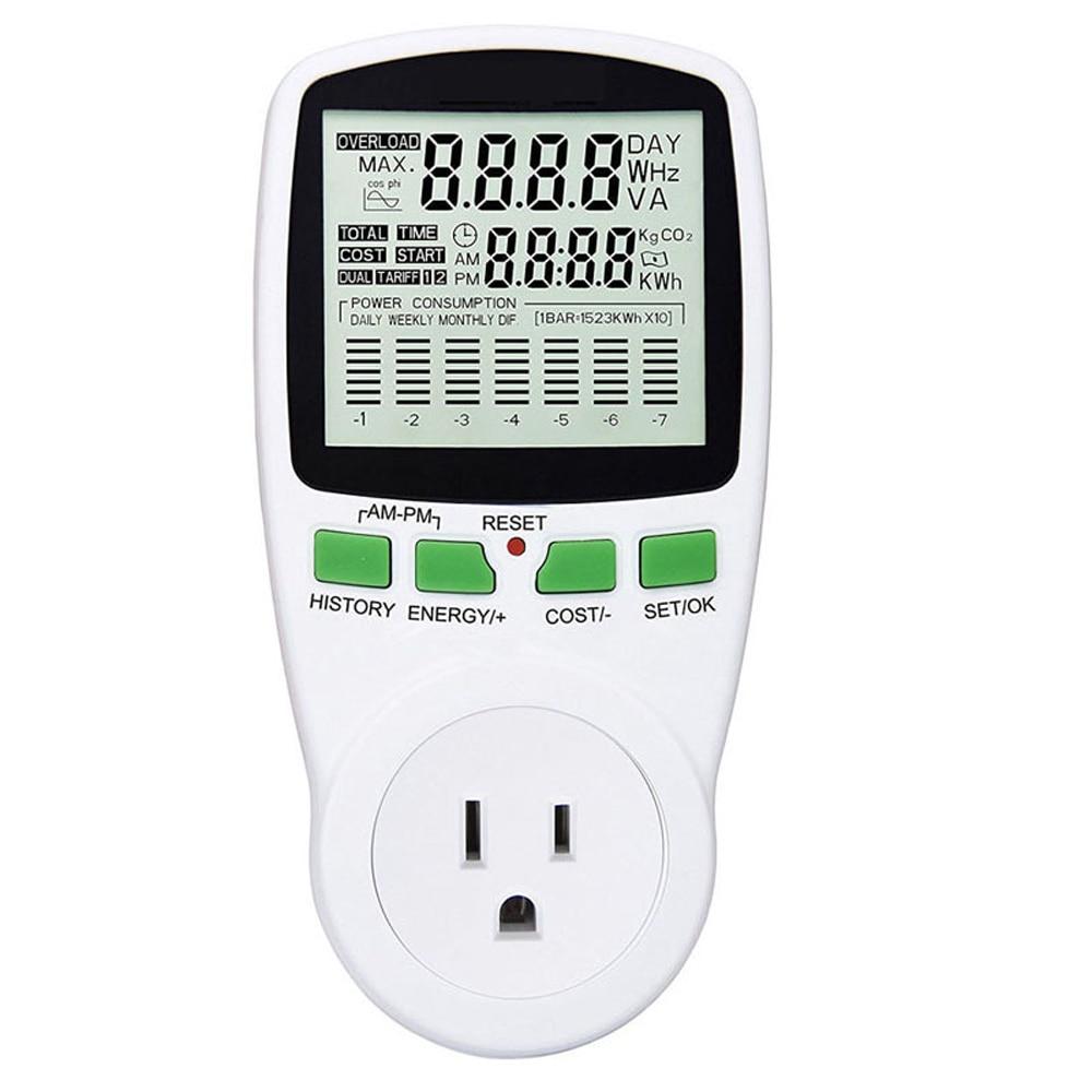 Compteur dénergie LCD numérique wattmètre surveillance de la puissance électrique Kwh compteur dénergie ue usa royaume-uni