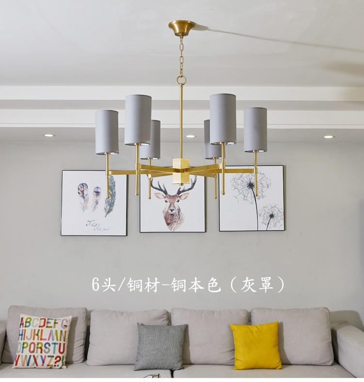 Estilo nórdico lâmpada lustre americano moderno e