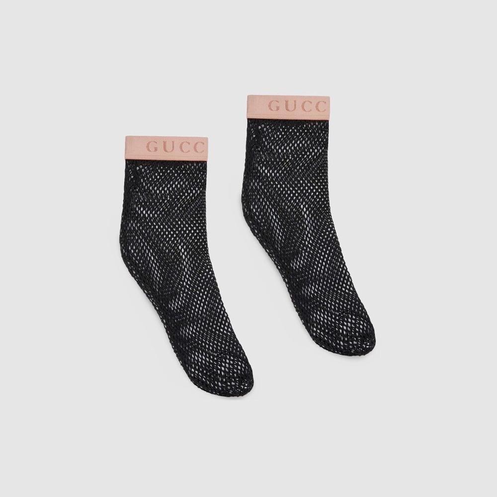 Gucci style women's sock Lace Mesh