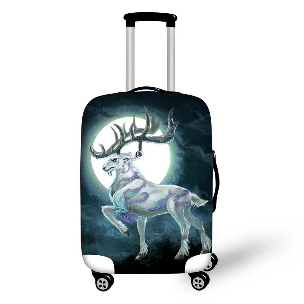 HaoYun Water-proof Suitcase Cover Cute Moon Deer Pattern Luggage Cover Cartoon Animal Girls Elastic Travel Luggage Protector