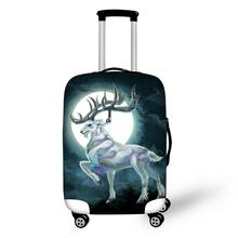 HaoYun Water-proof Suitcase Cover Cute Moon Deer Pattern Luggage Cartoon Animal Girls Elastic Travel Protector