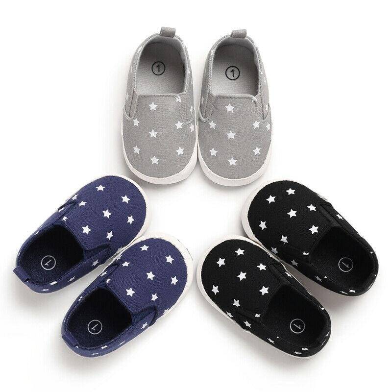 Fashion Newborn Baby Boy First Walker Shoes Outdoor Non-slip Soft Sole Shoes Kid Boy 0-18M