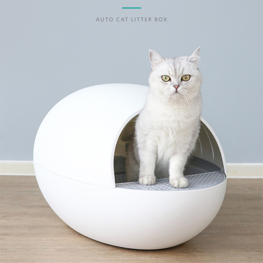 Automatic Cat Sandbox Smart Gravity Sensor Pet Litter Box Deodorant Splash Proof Intelligent Self Cleaning Closed Litter Tray