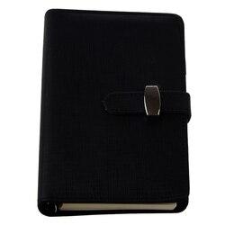Modny  z kieszeniami organizer Planner skórzany pamiętnik Filofax czarny