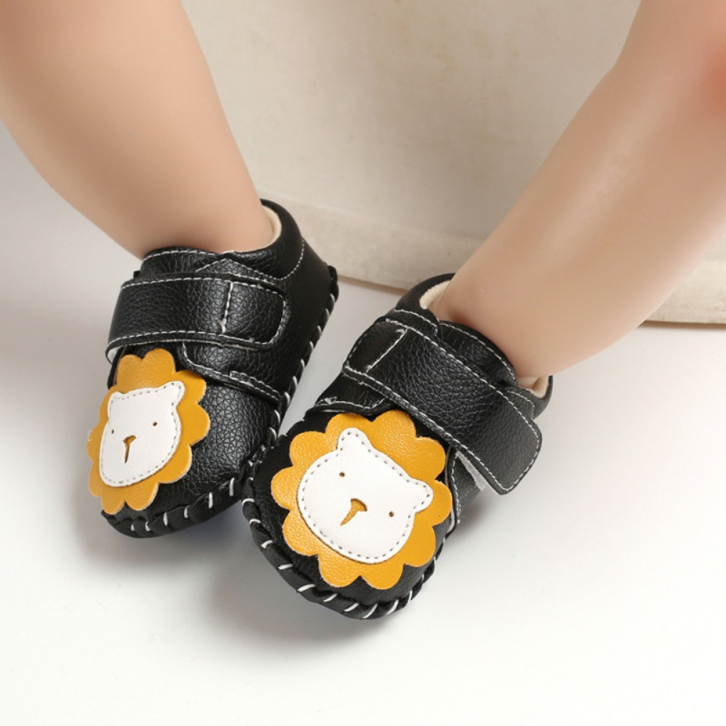 Toddler Soft Soled PU Anti-Slip First Walker Baby Casul First Walker All Seasons Shoes Cute Cartoon Lion Shoes
