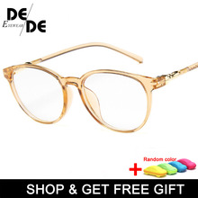 Hot Women Glasses Frame Men Vintage Eyeglasses Frames Round Clear Lens Optical Spectacles With Box