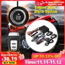 9Pc diy Car SUV Keyless Entry Engine Start Keyless Alarm System Push Button Remote Starter Stop Automobiles Auto Car Accessories