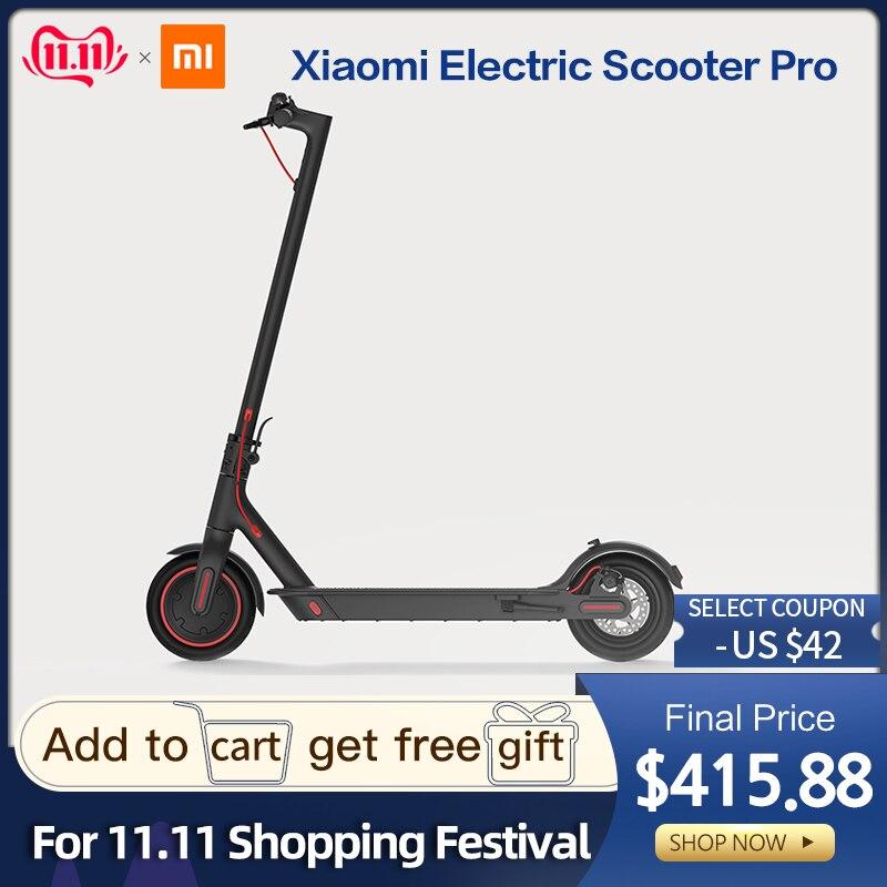2019 Xiao mi mi Scooter électrique mi jia M365 Pro Smart E Scooter planche à roulettes mi ni pliable Hoverboard Longboard adulte 45km batterie