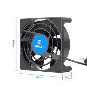 Image 4 - VONTAR – Mini ventilateur de refroidissement C1, pour boîtier TV Android, silencieux, sans fil, cc 5V, alimentation USB, 80mm, 80x80x2