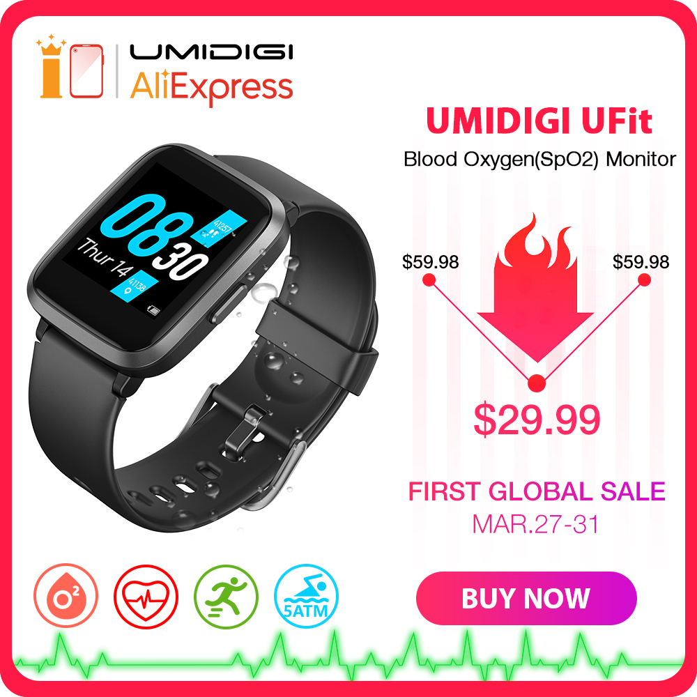 UMIDIGI UFit Health and Fitness Tracker with SpO2 and Heart Rate <font><b>Monitor</b></font> Activity Tracker Smartwatch for Android and iOS Phone image