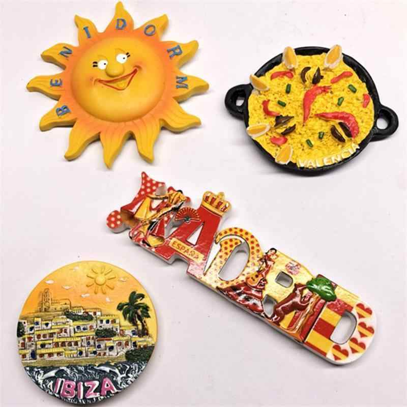 3d Fridge Magnet Sticker Spain Bullfighting Dancer Tourist Attractions Characters Souvenir Refrigerator Magnetic Stickers Decor
