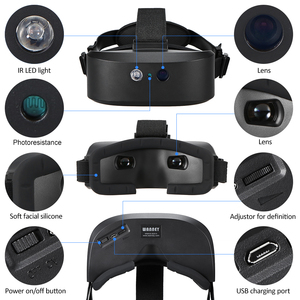 Image 4 - Head Mount Night Vision Scope Digital Night vision Binocular 60M In Dark Near infrared Illuminator for Night Hunting