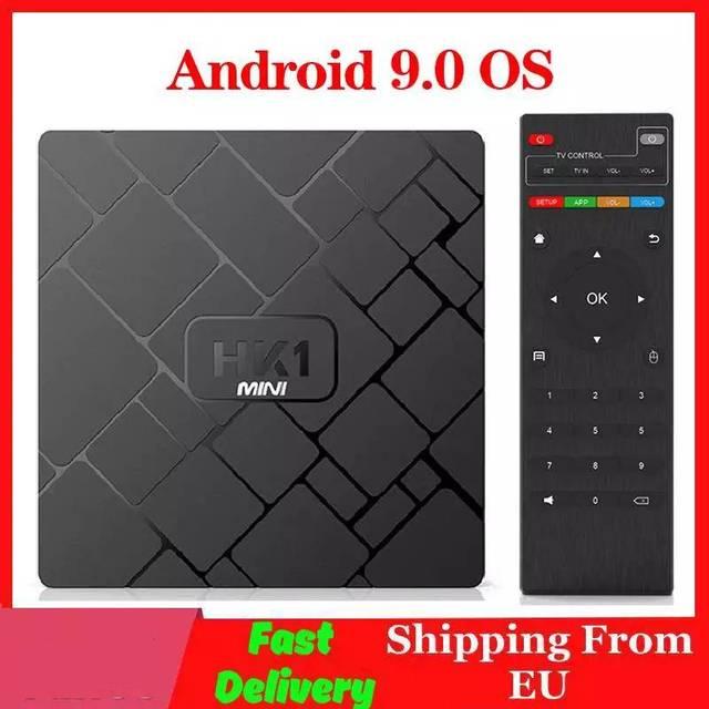 4k smart tv caixa android 9.0 hk1 mini media player rockchip rk3229 quadcore 2gb 16gb h.265 sep caixa superior hk1mini tvbox