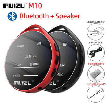 RUIZU M10 Bluetooth odtwarzacz MP3 8G 16G HIFI odtwarzacz muzyczny z wbudowany głośnik FM Radio EBook nagrywanie przenośne Audio MP3 tanie i dobre opinie MP3 WAV FLAC Around 55mm x 11mm Bateria litowa Dyktafon E-czytanie książki Radio FM Przeglądarka zdjęć 10 godzin