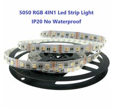 DC24V Led Strip RGBW/RGB+WW RGB5050 SMD 4 Color in 1 60Leds/m IP20 Waterproof RGB Led Flexible Lamps For bedroom decoration 12V